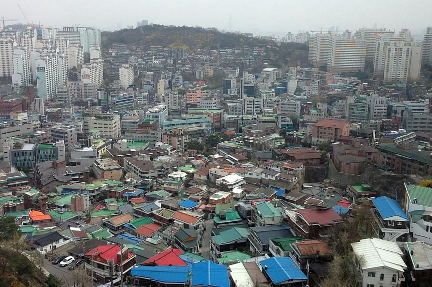 The view from The Shilla in Seoul. -- ST PHOTO: BRYNA SINGH