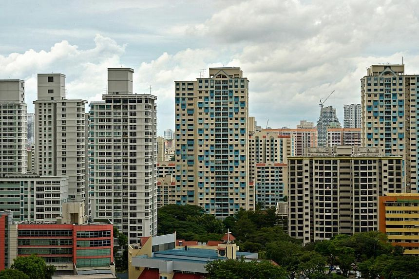 SRX Property data showed that resale prices were unchanged last month compared with April, when prices rose 0.2 per cent over March. -- PHOTO: ST FILE