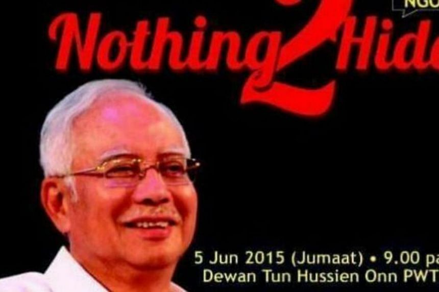 The scheduled Nothing2Hide dialogue between Prime Minister Datuk Seri Najib Tun Razak and NGOs on the subject of 1Malaysia Development Board (1MDB) has been cancelled following a Twitter message by the Inspector General of Police saying it would not