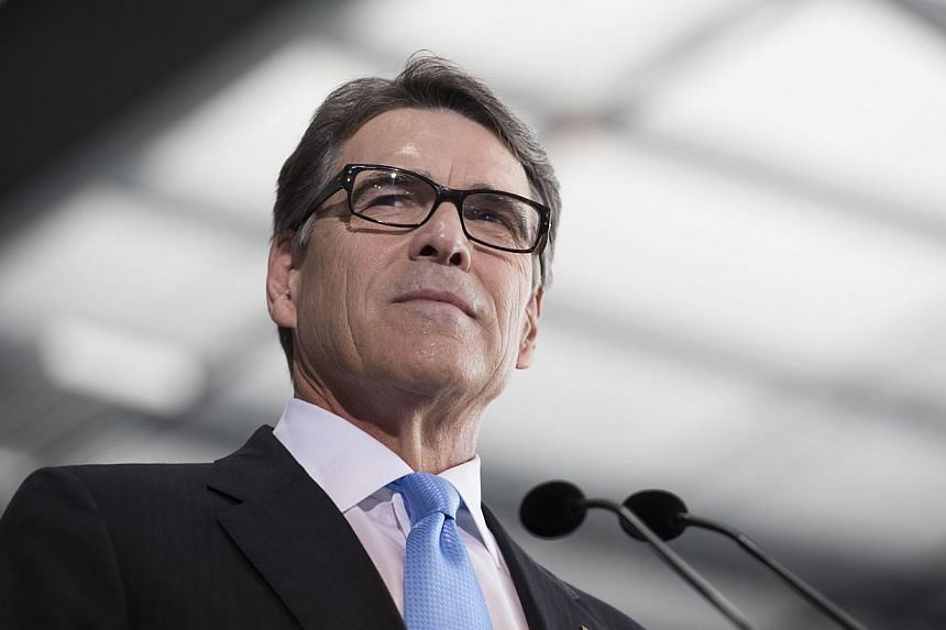 Former Texas Governor Rick Perry announced on Thursday he will pursue the Republican presidential nomination again in 2016, seeking redemption for a fumbled White House bid in 2012 and adding to a crowded field of conservative candidates. -- PHOTO: B