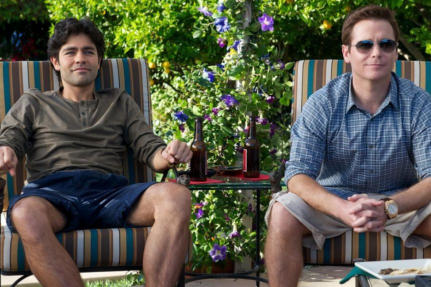 Adrian Grenier (left) and Kevin Connolly in a scene from Entourage the movie, a bro-medy with a lot of bro and precious little comedy.