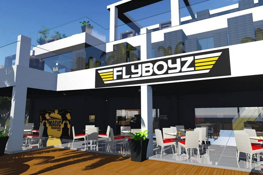 Flyboyz Beach Bar has a diner, a retro bar and a sky lounge on the top floor.