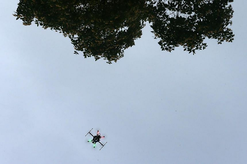 Operation of drones will not be allowed at SEA Games competition venues from Friday (June 5) till June 16. -- ST PHOTO: NEO XIAOBIN