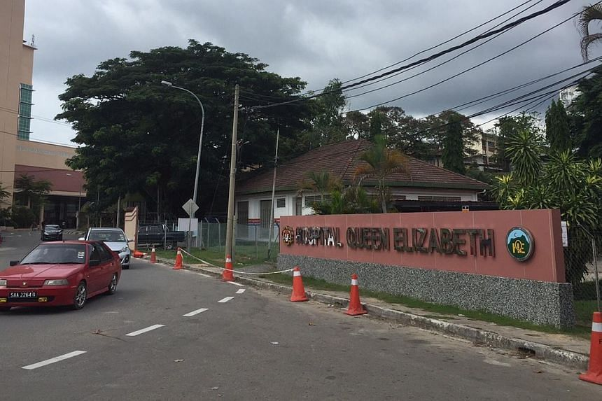 The Queen Elizabeth Hospital in Kota Kinabalu where, according to Malaysian media, the body of a Singaporean girl arrived earlier on Saturday, June 6. -- ST PHOTO: MARK CHEONG