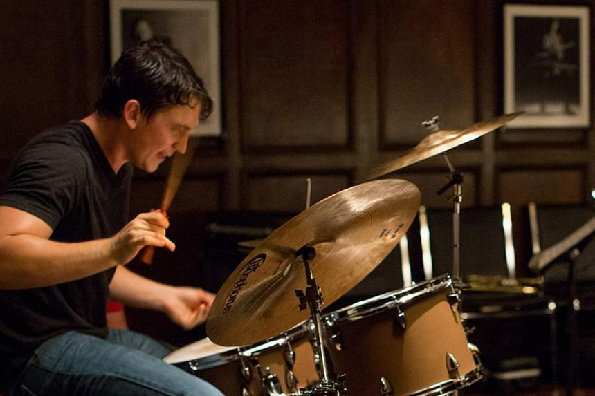 For the big band competition scenes in Whiplash, sound mixer Craig Mann synchronised actor Miles Teller's (above) flying hands with the drum sound of a professional jazz player to make it more realistic. -- PHOTO: DIOS VINCOY JR FOR THE STRAITS TIM