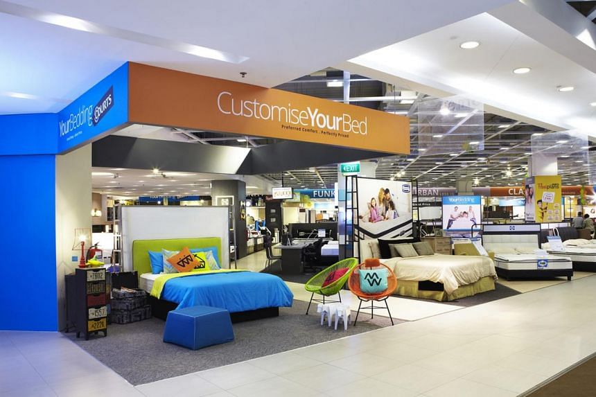 Furniture retailer Courts' new concept (above) allows people to customise their dream beds, right down to the bed base; while American brand Tempur's Zero Gravity bed system (left) has four pre-set positions to cater to its user's different activitie