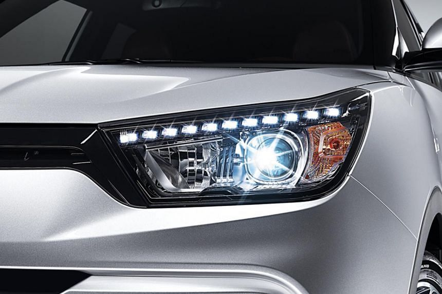 The Ssangyong Tivoli (seen among the ruins of Villa Adriana in the ancient city of Tivoli) boasts a six-speed automatic transmission and HID headlamps with LED daytime-running lights.