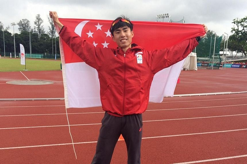 Soh Rui Yong has made it back-to-back triumphs for Singapore in the men's marathon event at the SEA Games. -- ST PHOTO: CHUAN LIMIN