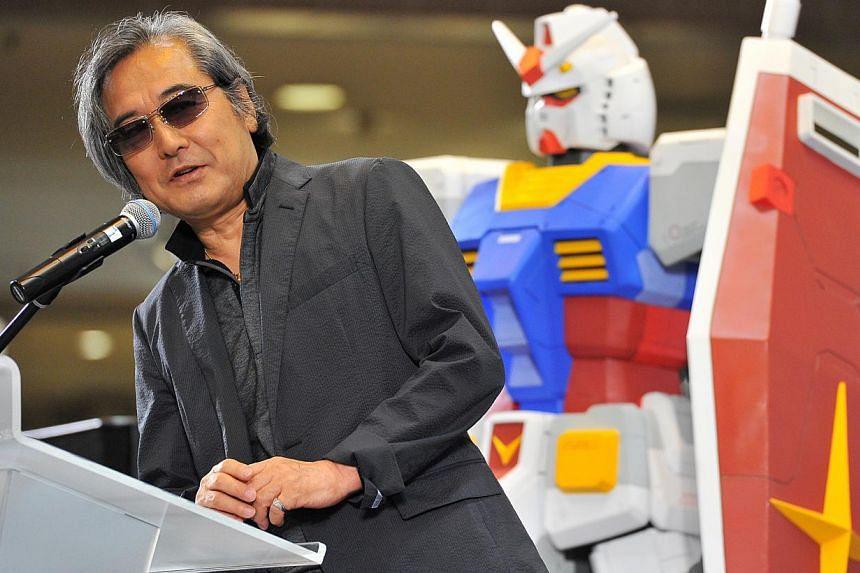 Mechanic designer Mr Kunio Okawara, speaking at Takashimaya Square on June 6, 2015. -- PHOTO: LIM YAOHUI FOR THE STRAITS TIMES