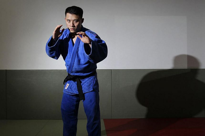 The only Singaporean to reach a final at the SEA Games judo competition was Gabriel Yang. Three of his compatriots in action on June 7, 2015 were eliminated from gold medal contention. -- PHOTO: ST FILE