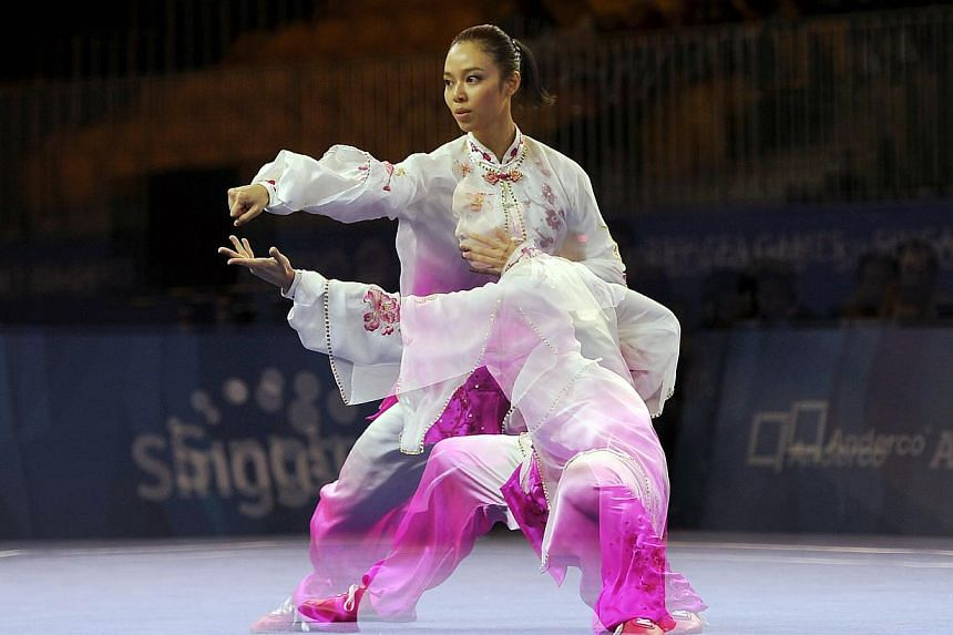 Indonesian taijiquan exponent Lindswell Kwok at the 28th SEA Games. -- PHOTO: REUTERS