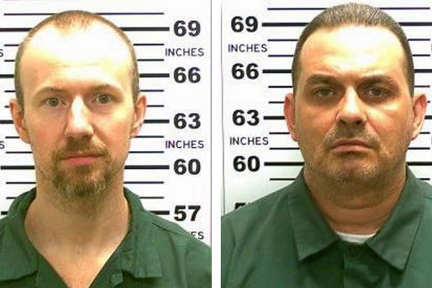 New York State Police handout composite image showing convicted murderers David Sweat (left) and Richard Matt (right) who escaped from the maximum security Clinton Correctional Facility in Dannemora, New York, USA, on June 6, 2015. -- PHOTO: EPA