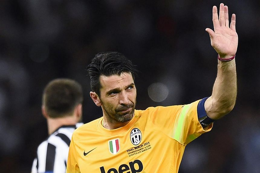 Juventus' Gianluigi Buffon looking dejected at the end of the match, on June 6, 2015. -- PHOTO: REUTERS