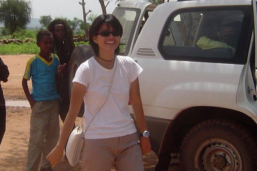 In 2004, Geraldine Ang (above) spent a year in Tigray, northern Ethiopia, working in a refugee camp which housed 10,000 people. -- PHOTO: COURTESY OF GERALDINE ANG