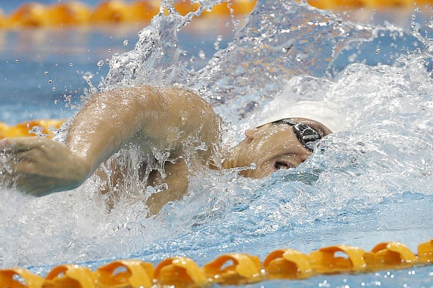 Singapore's Joseph Schooling in action during the SEA Games men's 100m freestyle at the OCBC Aquatic Centre on June 7, 2015. -- PHOTO: SINGAPORE SEA GAMES ORGANISING COMMITTEE/ACTION IMAGES VIA REUTERS