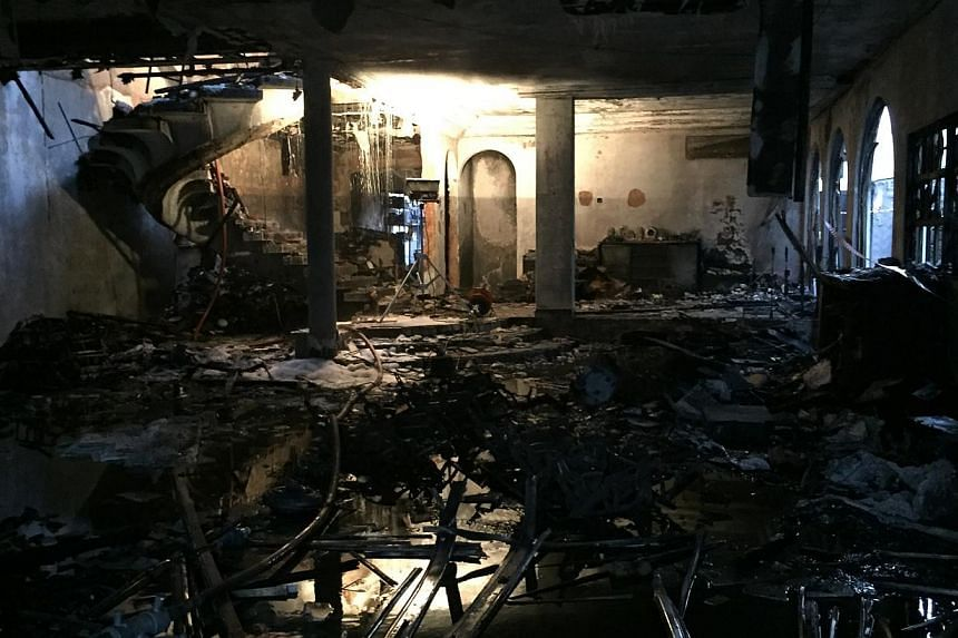 Ground floor of the unit. A fire broke out at the house in Yio Chu Kang early on Tuesday morning (June 9), killing two people and injuring six others. -- PHOTO: SCDF