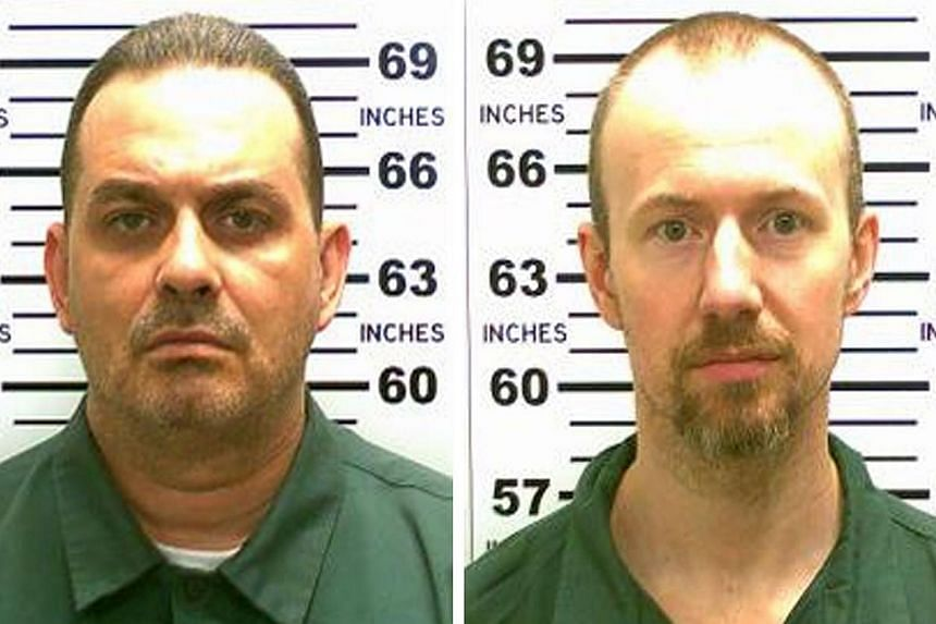 A United States manhunt for two convicted killers, Richard Matt (left), 49, and David Sweat, 35, who cut their way out of a maximum-security jail Hollywood-style on Tuesday stretched into a fourth day as investigators focused on whether they were hel