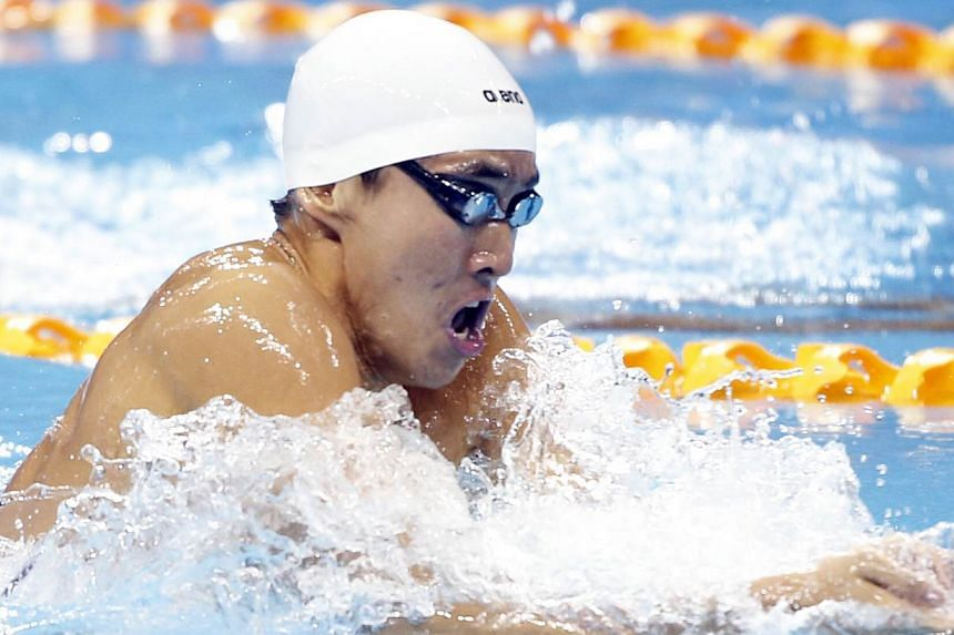 Quah Zheng Wen in action during the men's 400m individual medley on June 9, 2015. His win earned Singapore its 51st gold medal of the SEA Games, surpassing the 50-goal record set in 1993. -- ST PHOTO: KEVIN LIM