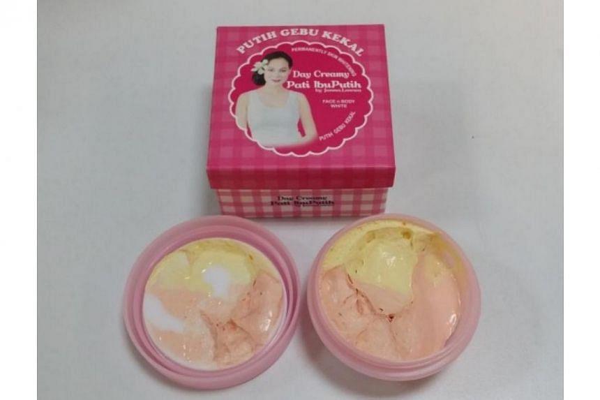 Pati IbuPutih by Janna Lawwa Day Creamy Face n Body White (Putih Gebu Kekal). -- PHOTO: HEALTH SCIENCES AUTHORITY