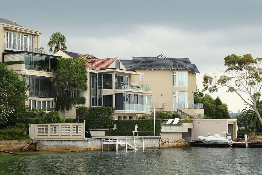 Residential properties by the waterfront in the suburb of Point Piper in Sydney, Australia, on March 10, 2015. -- PHOTO: BLOOMBERG
