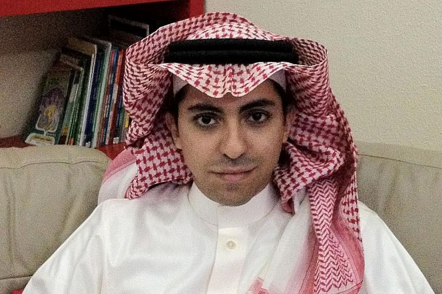 Saudi blogger Raef Badawi in a handout photo taken in 2012. Saudi Arabia's supreme court has upheld a sentence of 10 years in jail and 1,000 lashes against him over allegedly insulting Islam, his wife said. -- PHOTO: AFP
