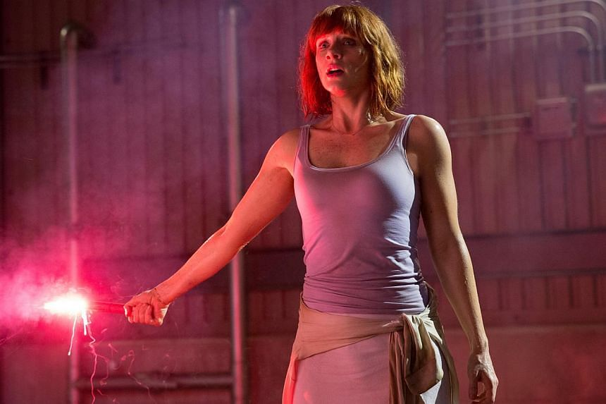 Bryce Dallas Howard says she is grateful to be in Jurassic World, where she plays a woman in a leadership position, who is flawed but courageous. -- PHOTO: UIP SINGAPORE
