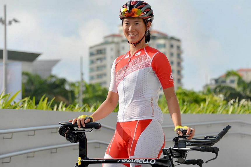 Cyclist Dinah Chan is one of several from Singapore and Malaysia to have been hit by a suspected case of food poisoning. -- PHOTO: THE NEW PAPER