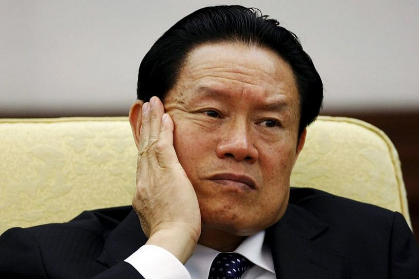 Former Chinese security chief Zhou Yongkang was sentenced on Thursday to life in prison on charges of bribery, abuse of power and leaking state secrets. -- PHOTO: REUTERS