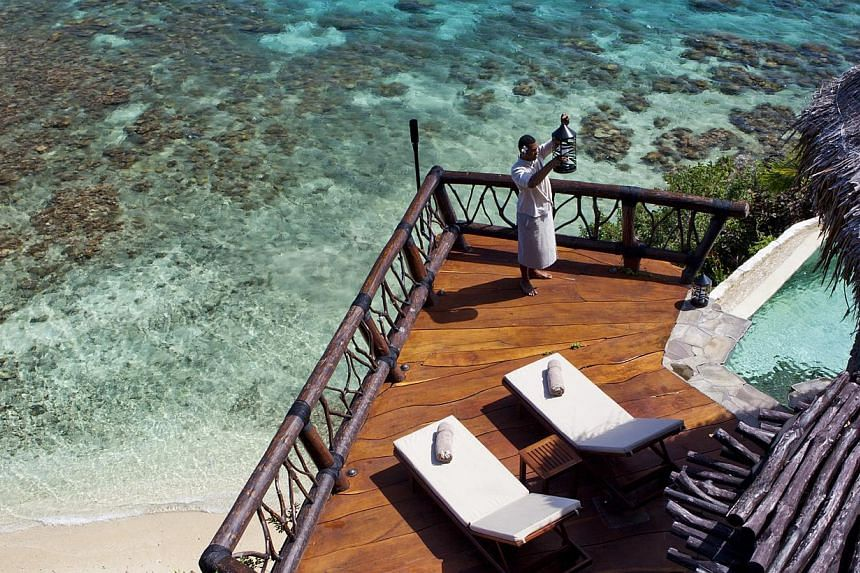 The survey found that shopping and relaxing at beaches and resorts were the top factors considered by the wealthy in Singapore when deciding where to go. -- PHOTO: LAUCALA ISLAND