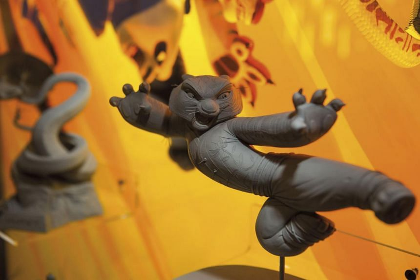 A maquette of Tigress from Kung Fu Panda (2008) at the DreamWorks exhibition. -- PHOTO: ANDREW MORLEY