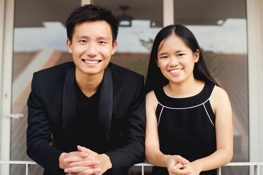 Violinist Loh Jun Hong and pianist Abigail Sin. -- PHOTO: ZACH TAN
