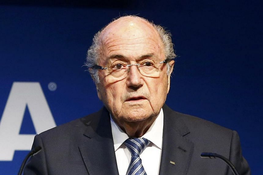 Fifa president Sepp Blatter addresses a news conference at the Fifa headquarters in Zurich, Switzerland, on June 2, 2015. -- PHOTO: REUTERS