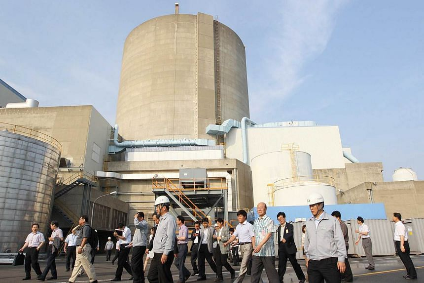 This picture taken on July 9, 2012 shows South Korea's oldest nuclear reactor Gori Reactor No.1 in the southestern port of Busan. -- PHOTO: AFP