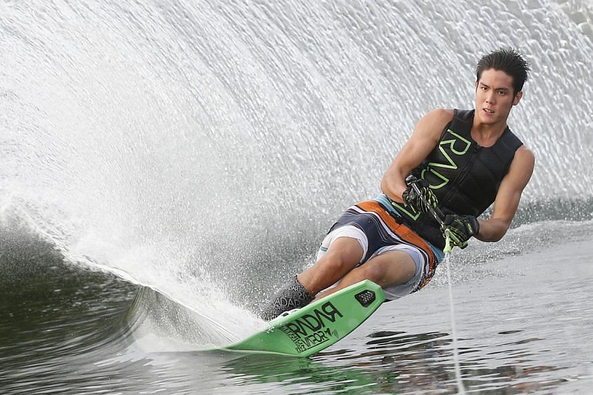 Singapore waterskier Mark Leong. -- PHOTO: ST FILE