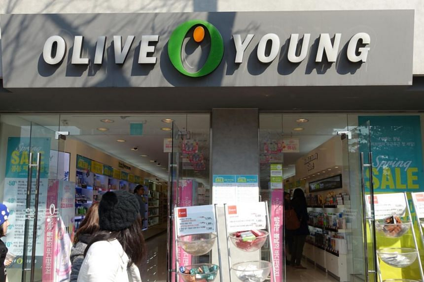 Shops at Gangnam-gu (above) sell a wide variety of top-range beauty brands, while the Olive Young stores (right) stock affordable drugstore beauty care products.