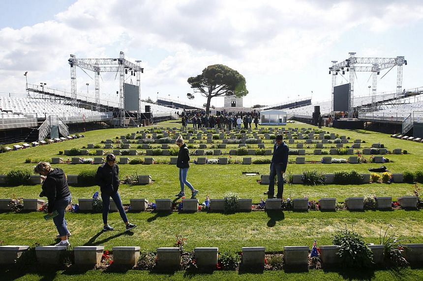 Lone Pine is one of the many cemeteries in Gallipoli where Australian and New Zealand servicemen who died during World War I are buried. -- PHOTO: REUTERS