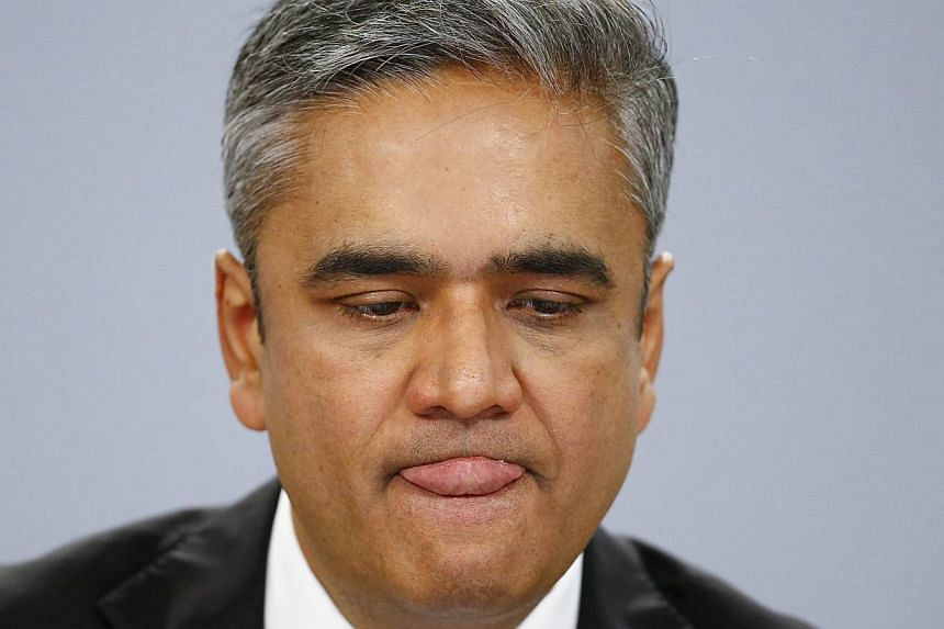 Deutsche Bank co-chief executive Anshu Jain will receive no severance pay and no compensation for working as an adviser to the bank in the six months after his departure, German media reported on Sunday, June 14, 2015. -- PHOTO: REUTERS