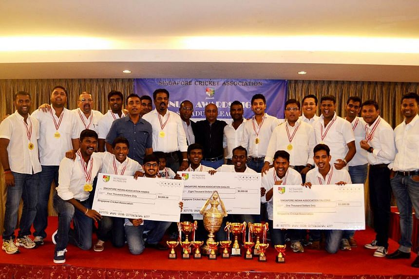 The Indian Association (IA) bagged most of the top honours at the Singapore Cricket Association's (SCA) annual awards night on June 14, 2015. -- PHOTO: SINGAPORE INDIAN ASSOCIATION