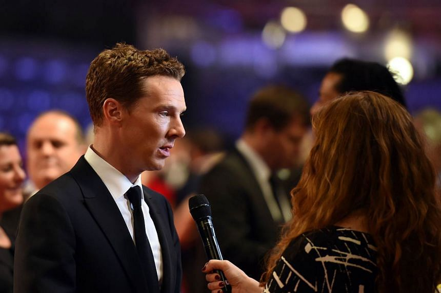 Actor Benedict Cumberbatch (left) and his wife Sophie Hunter have welcomed a baby boy. -- PHOTO: AFP