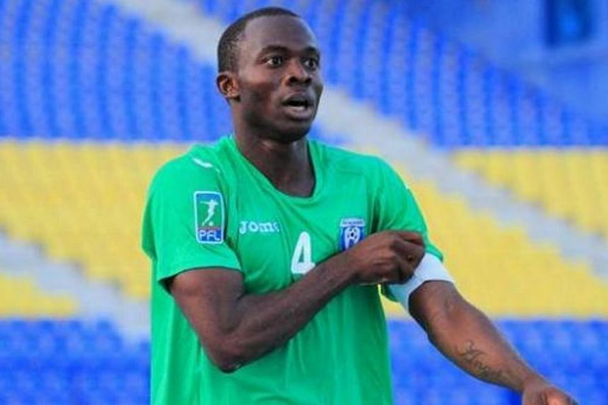 Nigerian defender David Oniya (above) collapsed on the pitch and died after playing just a few minutes of a local friendly in Malaysia on Saturday, reports said. -- PHOTO: TWITTER