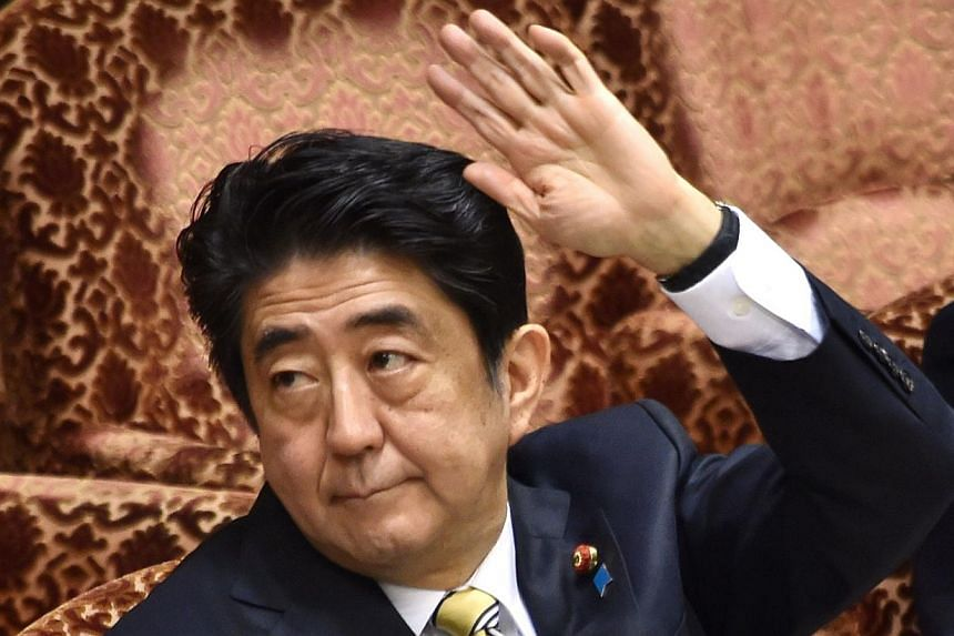 Support for Japanese Prime Minister Shinzo Abe's cabinet has fallen to the lowest level since he took office in 2012, to just over 40 per cent, with nearly two-thirds of voters opposed to his muscular defence policy that would end a self-imposed ban