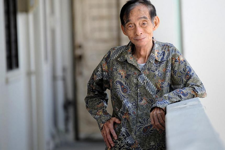 As a cooking instructor, Mr Jolly Wee was known to be a stern taskmaster and a stickler for getting traditional recipes right. -- ST PHOTO: TIFFANY GOH