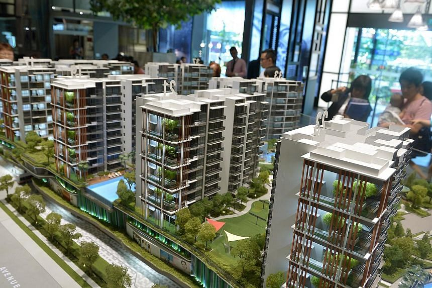 Brisk sales were seen at Botanique and North Park Residences (above). -- ST PHOTO: KUA CHEE SIONG