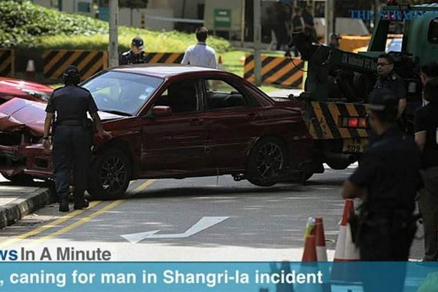 In today's The Straits Times News In A Minute video, news on one of the passengers in the car that crashed through a security barrier near Shangri-La Hotel last month. -- SCREENSHOT: RAZOR.TV
