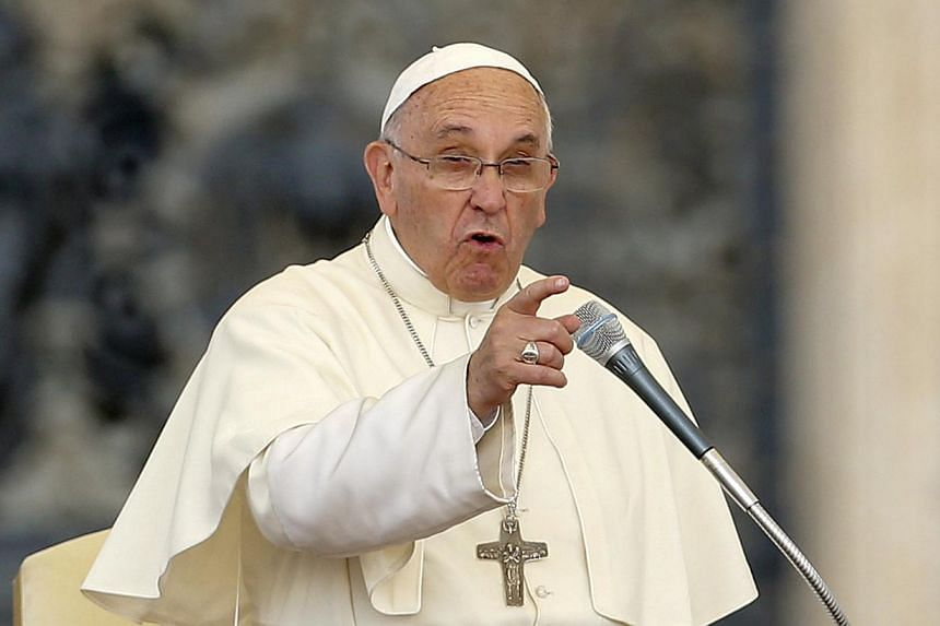 Pope Francis delivers a speech during an audience for the participants of the Convention of the Diocese of Rome in St. Peter's square at the Vatican City, on June 14, 2015.A former papal ambassador to the Dominican Republic will be tried for pa