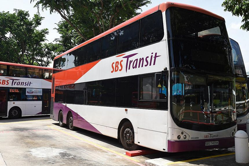 Thirty-four SBS Transit bus services will be affected by road closures on five Saturdays due to the rehearsals for the National Day Parade, SBS Transit has said. -- PHOTO: ST FILE