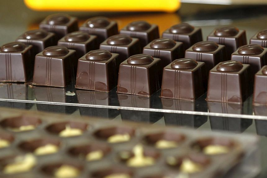 Chocolate moulds seen at the Absolute Chocolate factory in Kenya's capital Nairobi March 20, 2015. -- PHOTO: REUTERS