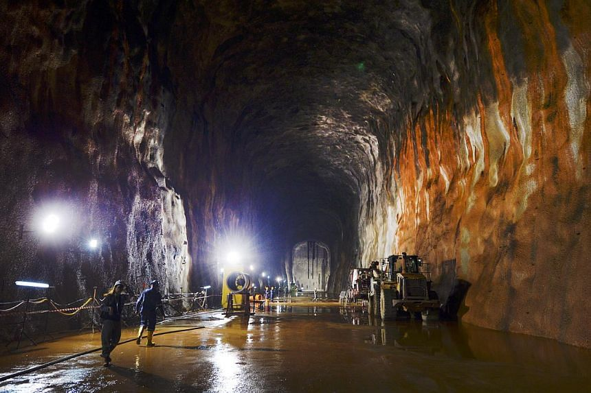 The $950 million Jurong Rock Caverns, developed by JTC Corporation, that was opened in September 2014. PUB is exploring the possibility of using underground space for drainage and water storage. -- PHOTO: ST FILE