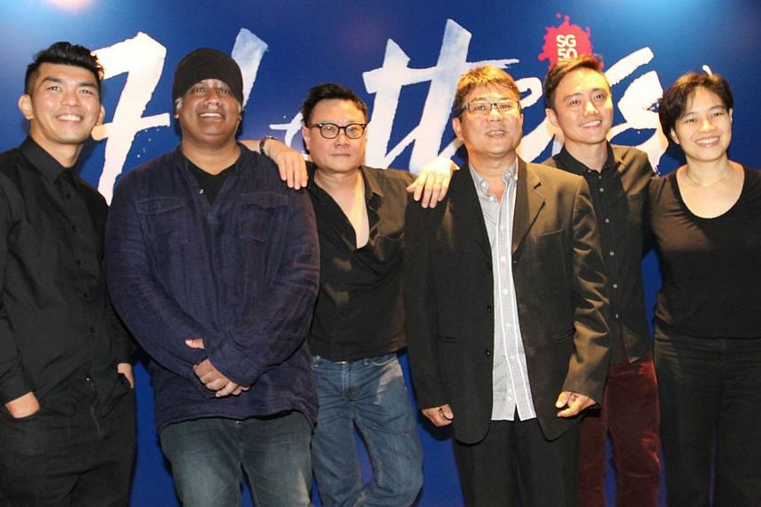 Seven local film-makers (from left): Royston Tan, K. Rajagopal, Eric Khoo, Jack Neo, Boo Junfeng, Tan Pin Pin and Kelvin Tong (not in picture), will be collaborating on 7 Letters, a collection of seven short films which will showcase the life and sto