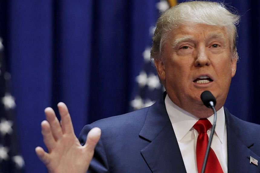 US Republican presidential candidate, real estate mogul and TV personality Donald Trump formally announces his campaign for the 2016 Republican presidential nomination during an event at Trump Tower in New York June 16, 2015. -- PHOTO: REUTERS